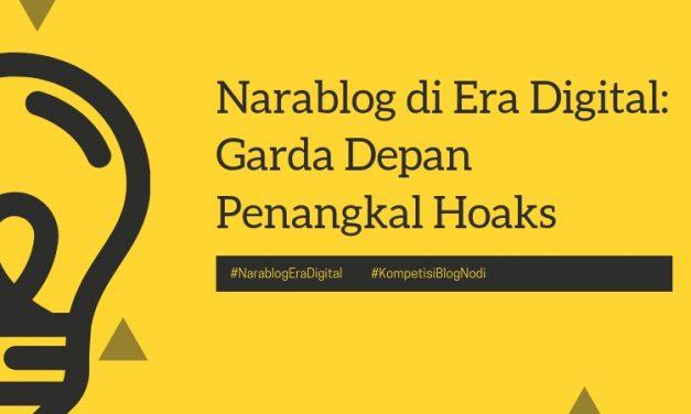 Narablog di Era Digital: Garda Depan Penangkal Hoaks